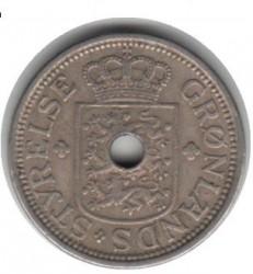 Moneda > 25ore, 1926 - Groenlandia  (Forma: redonda con agujero) - reverse