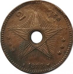 Монета > 2сантима, 1887-1888 - Вільна держава Конго  - obverse