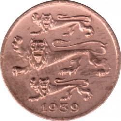 Монета > 1сент, 1939 - Естония  - obverse