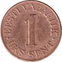 Монета > 1сент, 1939 - Естония  - reverse