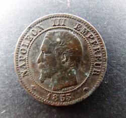 Moneta > 2centesimi, 1853-1857 - Francia  - obverse