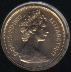 Монета > 5пенсів, 1982-1984 - Велика Британія  - obverse