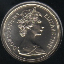 Munt > 10pence, 1982-1984 - Verenigd Koninkrijk  - obverse