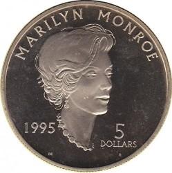 Moneta > 5dolarów, 1995 - Wyspy Marshalla  (Marilyn Monroe) - reverse