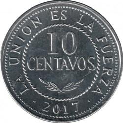 Mynt > 10centavos, 2017 - Bolivia  - obverse