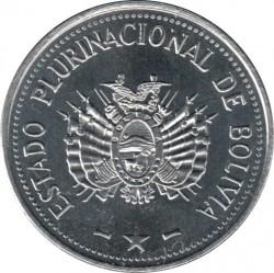 Mynt > 10centavos, 2017 - Bolivia  - reverse