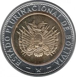 Coin > 5bolivianos, 2017 - Bolivia  - reverse