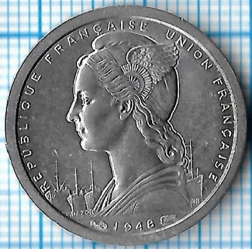 1 Frank 1948 Kamerun Km 8 Katalog Monet