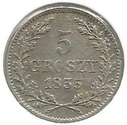 Mynt > 5groszy, 1835 - Krakow  - reverse