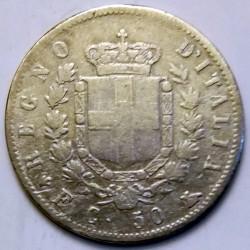 Монета > 50чентезимо, 1861-1862 - Італія  - reverse