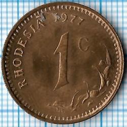 硬币 > 1分, 1970-1977 - 罗德西亚  - reverse