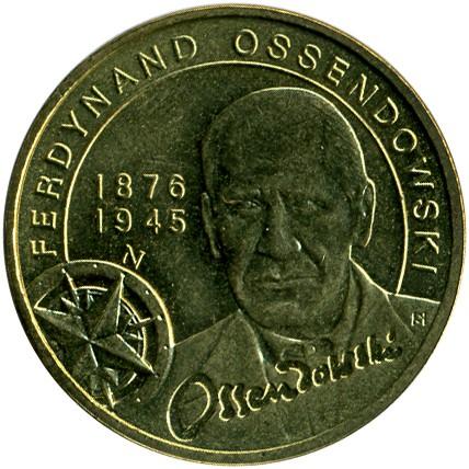 """Poland 2011 2 zlotych /""""Ferdynand Ossendowski/"""" UNC"""