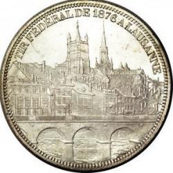 Moneta > 5franchi, 1876 - Svizzera  (Festival del Tiro di Losanna) - reverse