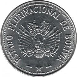Coin > 1boliviano, 2010-2012 - Bolivia  - obverse