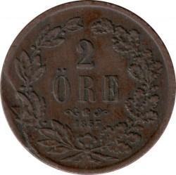 Mynt > 2ore, 1856-1858 - Sverige  - reverse