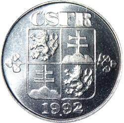 Монета > 1гелер, 1991-1992 - Чехословаччина  - obverse