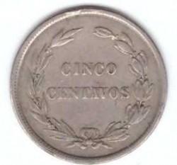 سکه > 5سنتاوو, 1917-1918 - اکوادور  - reverse