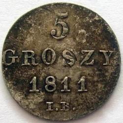 Moneda > 5groszy, 1811-1812 - Polonia  - reverse