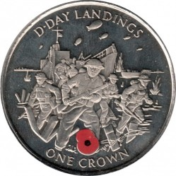 Münze > 1Krone, 2004 - Gibraltar  (60th Anniversary of D-Day) - reverse