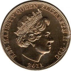 Moneta > 1korona, 2011 - Tristan da Cunha  (Ślub księcia Williama i Katherine Middleton) - obverse