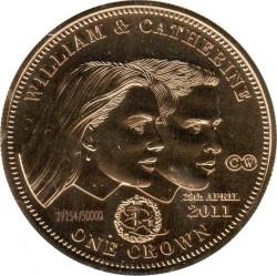 Moneta > 1korona, 2011 - Tristan da Cunha  (Ślub księcia Williama i Katherine Middleton) - reverse