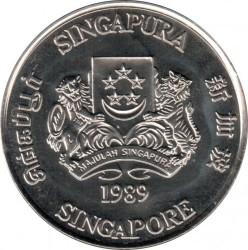 Moneta > 5dollari, 1989 - Singapore  (Transito rapido di massa) - obverse