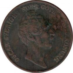 Монета > 4скіллінгабанко, 1849-1855 - Швеція  - obverse