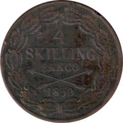 Монета > 4скіллінгабанко, 1849-1855 - Швеція  - reverse