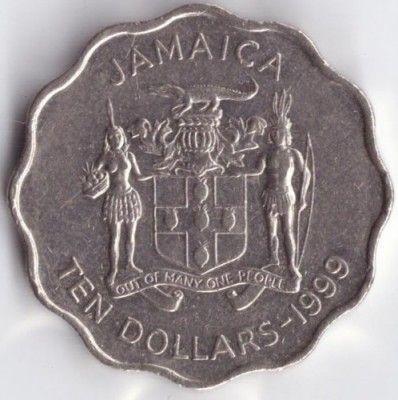 10 dollars 1999-2005, Jamaica - Coin value - uCoin.net