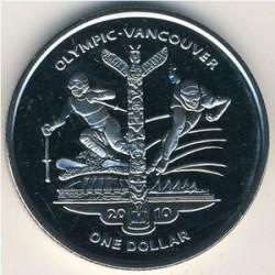Moneta > 1dollaro, 2009 - Sierra Leone  (XXI Giochi olimpici invernali, Vancouver 2010 - Atleti) - reverse