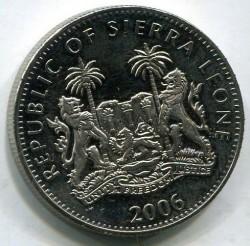 Moneta > 1dollaro, 2006 - Sierra Leone  (XX Giochi olimpici invernali, Torino 2006 - Mappa) - obverse