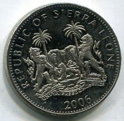 Moneta > 1dollaro, 2006 - Sierra Leone  (XX Giochi olimpici invernali, Torino 2006 - Mappa) - reverse
