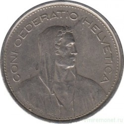 Moneta > 5franków, 1976 - Szwajcaria  - obverse