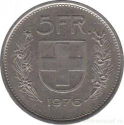 Moneta > 5franków, 1976 - Szwajcaria  - reverse