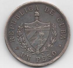 錢幣 > 1披索, 1915-1934 - 古巴  - obverse