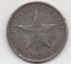 Monēta > 1peso, 1915-1934 - Kuba  - reverse