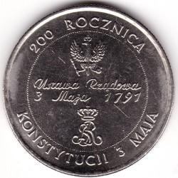 Монета > 10000злотых, 1991 - Польша  (200 лет Конституции Польши) - reverse