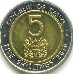 Coin > 5shillings, 2010 - Kenya  - obverse