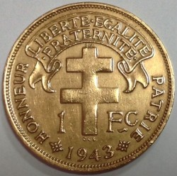 Кованица > 1франак, 1943 - Мадагаскар  - obverse