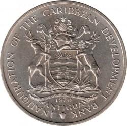 Moneda > 4dólares, 1970 - Antigua y Barbuda  (FAO - Alimentos para todos) - obverse