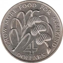 Moneda > 4dólares, 1970 - Antigua y Barbuda  (FAO - Alimentos para todos) - reverse