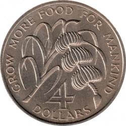 Moeda > 4dólares, 1970 - São Vicente e Granadinas  (FAO) - reverse