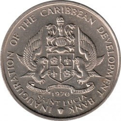 Кованица > 4долара, 1970 - Света Луција  (FAO) - obverse