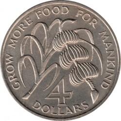 Кованица > 4долара, 1970 - Света Луција  (FAO) - reverse