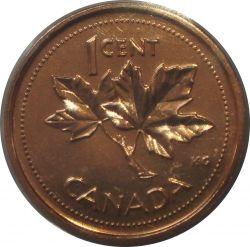 Moneda > 1centavo, 2002 - Canadá  (50 años de la coronación de la Reina Isabel II) - reverse