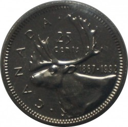 Монета > 25цента, 1992 - Канада  (125th Anniversary of Canada) - reverse