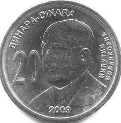 Монета > 20динаров, 2009 - Сербия  (130 лет со дня рождения Милутина Миланковича) - reverse