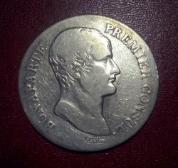 Mynt > 5francs, 1803 - Frankrike  - obverse