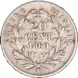 Pièce > 20centimes, 1853-1863 - France  - reverse