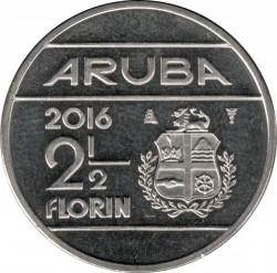 Монета > 2½флорина, 2014-2016 - Аруба  - reverse